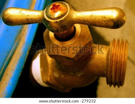 Outdoor Faucet - stock photo