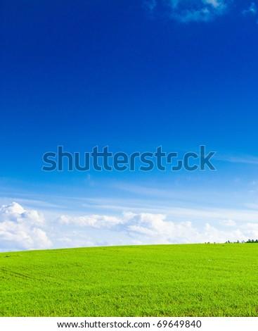 Outdoor Landscape Field - stock photo