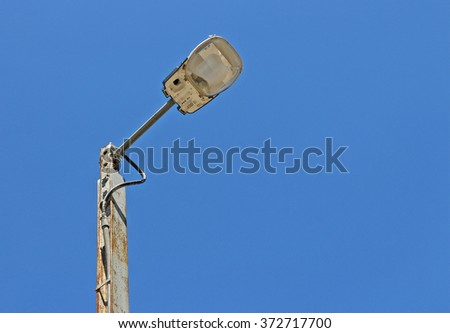 outdoor light in a bright blue sky