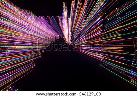 Outdoor Night Light Painting Abstract Design