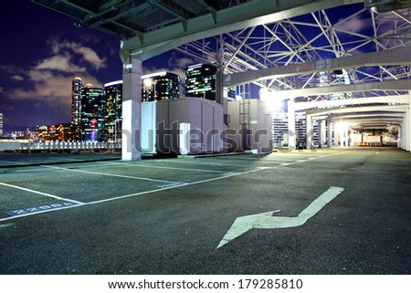 Outdoor parking lot - stock photo