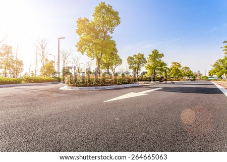 Outdoor parking road