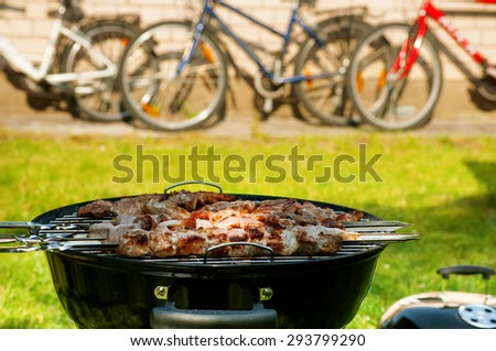 Outdoor party - stock photo