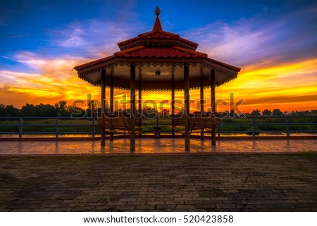 Outdoor Pavilion evening