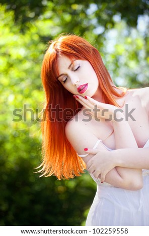 Outdoor portrait of a beautiful girl