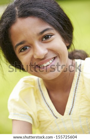 Outdoor Portrait Of Indian Girl