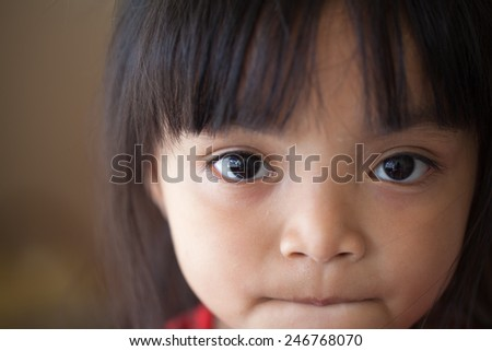 outdoor portrait of little girls. - stock photo