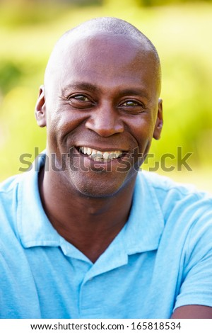 Outdoor Portrait Of Man In Countryside - stock photo