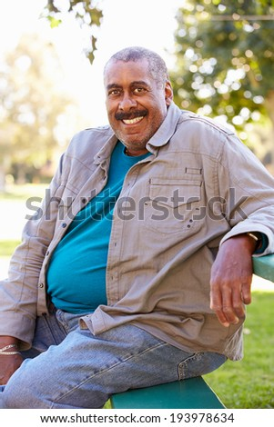 Outdoor Portrait Of Smiling Senior Man
