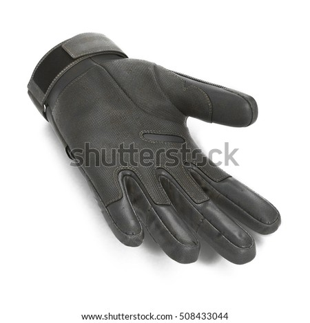 outdoor riding hiking climbing training tactical glove on white. 3D illustration