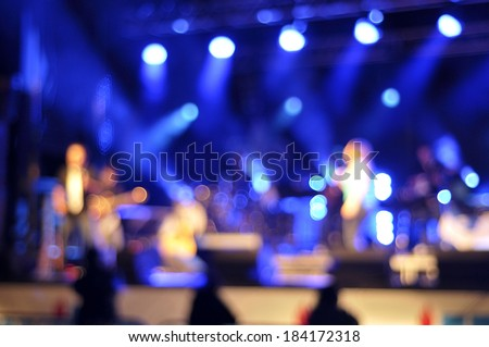Outdoor rock concert light background illumination - stock photo