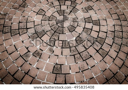 Outdoor stone block old tile floor background and pattern, Floor tile background