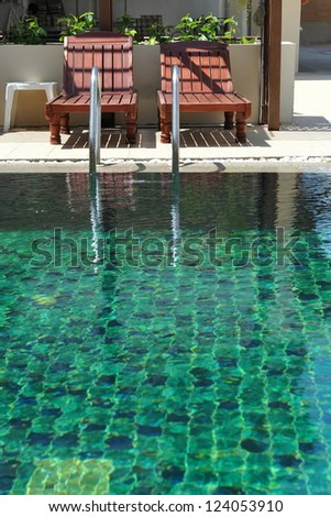 Outdoor Swimming Pool - stock photo