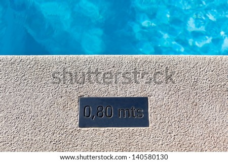 Outdoor Swimming pool detail. Horizontal shot - stock photo
