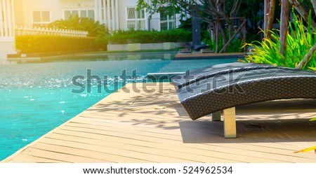 outdoor swimming pool with blue water near the garden - Outdoor Backyard Pools