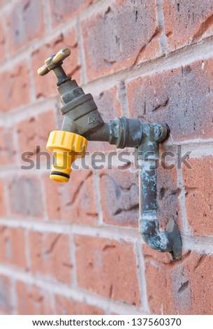 Outdoor tap - stock photo