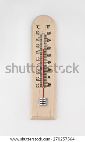 outdoor thermometer instrument with celsius scale