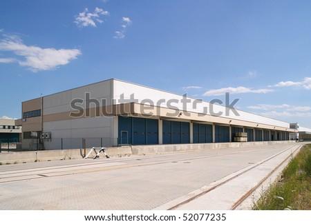 outdoor warehouse - stock photo