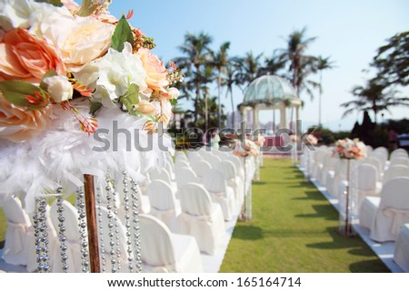 Outdoor wedding - stock photo
