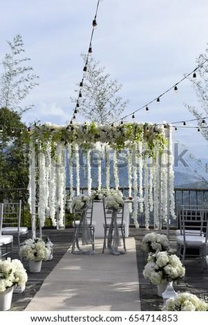 Wedding altar stock images royalty free images vectors outdoor wedding decoration wedding altar junglespirit Images