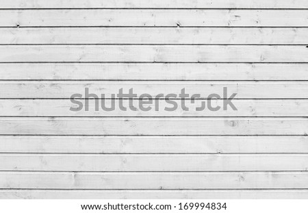 Outdoor white wooden wall background photo texture - stock photo