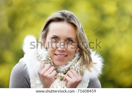 outdoor woman - stock photo