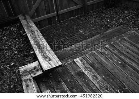 Outdoors Deck - stock photo