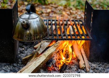 Outdoors grill - stock photo
