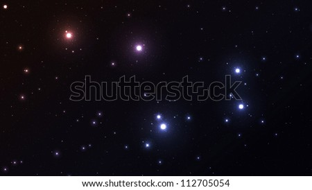 Outer space, colorful star field background - stock photo