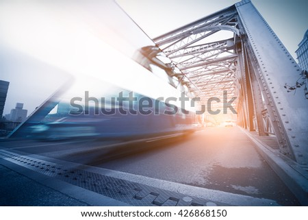 Outer white bridge in Shanghai