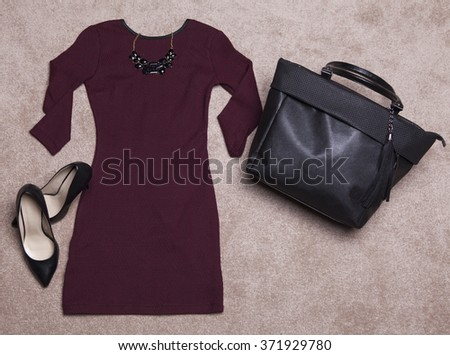 Outfit of casual and modern woman - stock photo