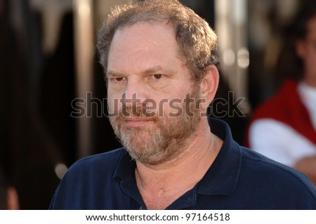 Outgoing Miramax boss HARVEY WEINSTEIN at the 58th Annual Film Festival de Cannes. May 14, 2005 Cannes, France.  2005 Paul Smith / Featureflash - stock photo