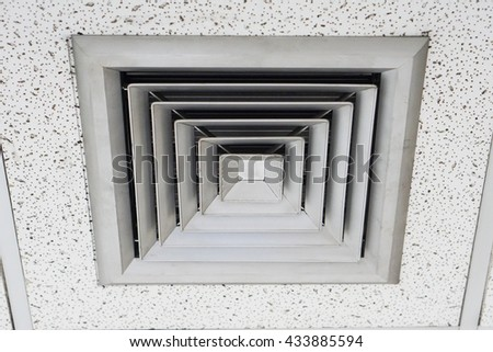 Outlet air duct in square shape.  - stock photo