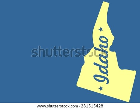 outline idaho state map  - stock photo
