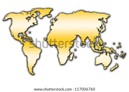 Outline map of our world covered with gradient - stock photo