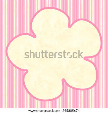 Outline of a flower with pink stripes and large text field for your own text