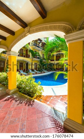 Stock Images similar to ID 9963364 - small courtyard plaza ...
