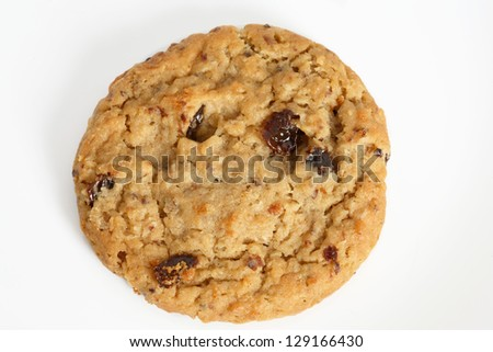 Outmeal cookies with raisins.