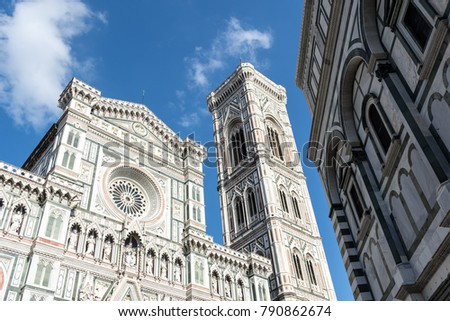 Outside of Santa Maria del Fiore Cathedral in Florence