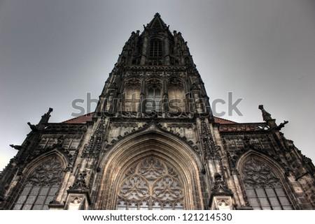 Outside St. Lamberti church, Munster - Germany - stock photo