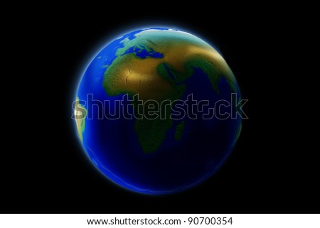 Outside the Earth's orbit. - stock photo