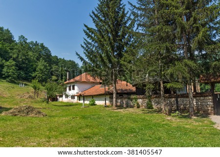 Outside view of Poganovo Monastery of St. John the Theologian, Serbia