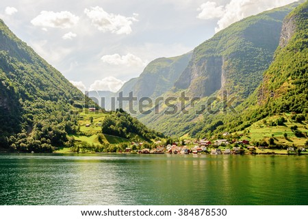 Outstanding landscape of the mountains of Sognefjord, Norway