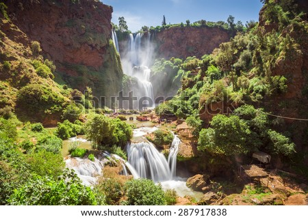 Ouzoud waterfalls, Grand Atlas in Morocco