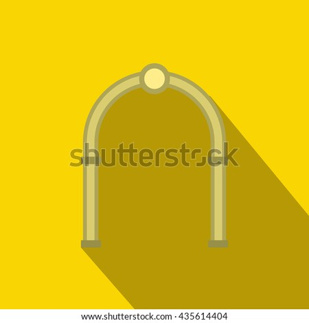 Oval arch icon, flat style - stock photo