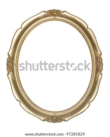 Oval photo frame(Clipping path!) - stock photo
