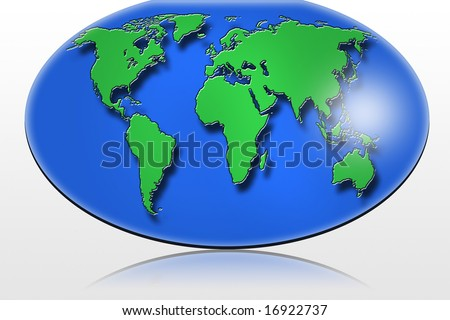 Oval world map stock illustration 16922737 shutterstock oval world map gumiabroncs Image collections
