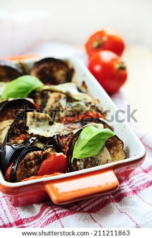 oven-roasted ratatouille vegetables