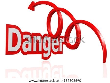 Over the danger - stock photo