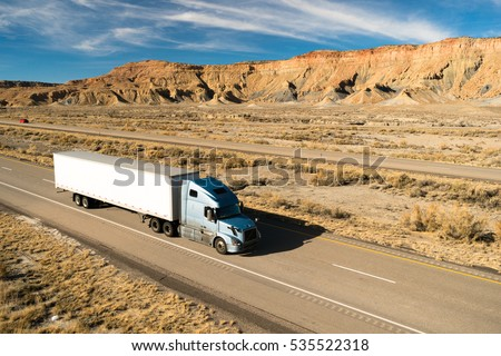 Over The Road Long Haul 18 Wheeler Big Rig Semi Truck